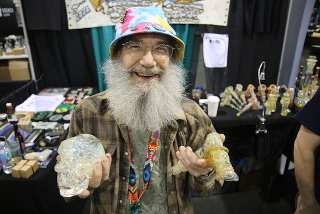 Bob Snodgrass Founder Of Color Changing PIpes Fumed With Gold And Silver